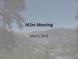 M2m Meeting