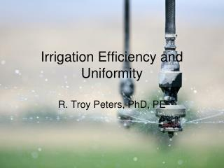 Irrigation Efficiency and Uniformity