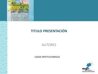 TITULO  PRESENTACIÓN