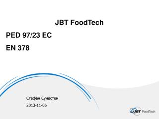 JBT FoodTech PED 97/23 EC EN  378