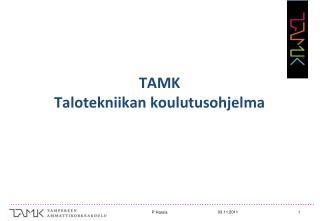 TAMK Talotekniikan koulutusohjelma