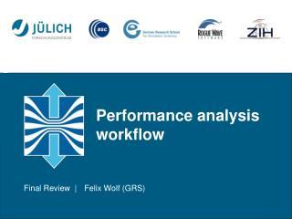 Performance analysis workflow