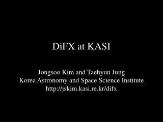 DiFX  at KASI