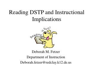 Reading DSTP and Instructional Implications