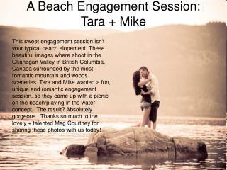 A Beach Engagement Session: Tara + Mike