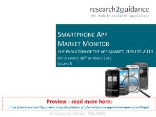 Smartphone App Market Monitor Vol. 5 (Q4 2011)
