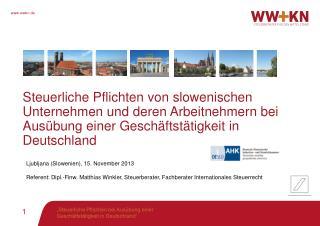 Steuerliche  Pflichten von slowenischen Unternehmen und deren Arbeitnehmern bei