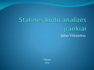 Statinės kodo analizės įrankiai