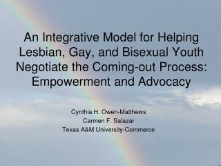 Cynthia H. Owen-Matthews Carmen F. Salazar Texas A&M University-Commerce