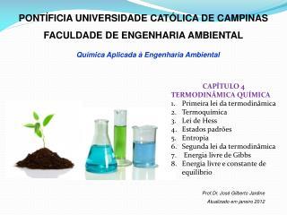 PONT�FICIA UNIVERSIDADE CAT�LICA DE CAMPINAS FACULDADE DE ENGENHARIA AMBIENTAL