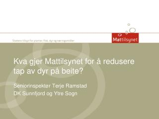 Kva  gjer  Mattilsynet for å redusere tap av dyr på beite?