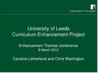 Curriculum Enhancement Project