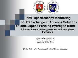 NMR  spectroscopy Monitoring