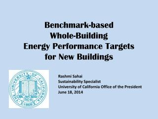 Benchmark-based  Whole-Building  Energy Performance  Targets for New Buildings
