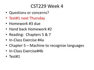 CST229 Week  4