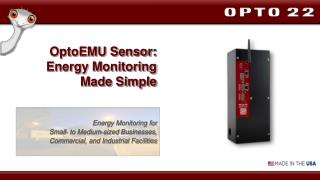 OptoEMU Sensor: Energy Monitoring  Made Simple