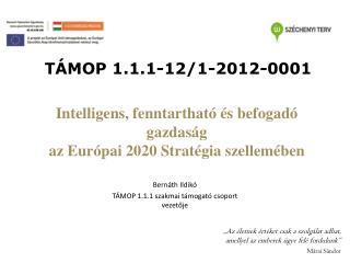 Intelligens, fenntartható és befogadó gazdaság az Európai 2020 Stratégia szellemében