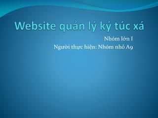 Website  qu?n l� k� t�c x�