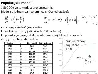 Populacijski  modeli