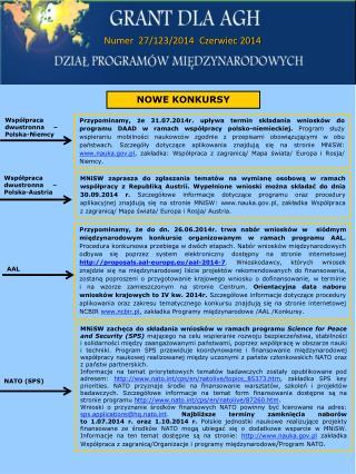 Numer  27/123/2014  Czerwiec 2014
