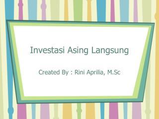 Investasi Asing Langsung