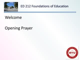 Welcome Opening Prayer