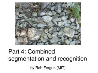 Part 4: Combined segmentation and recognition