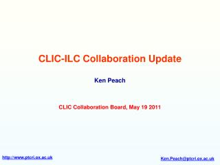CLIC-ILC Collaboration Update