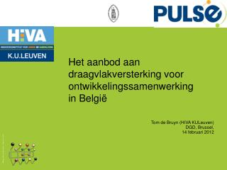 Het aanbod aan draagvlakversterking voor ontwikkelingssamenwerking  in België