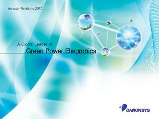 Green  Power Electronics