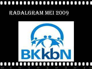 RADALGRAM MEI 2009