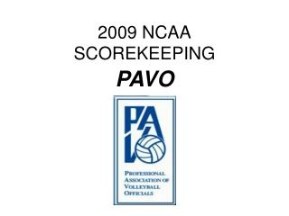 2009 NCAA SCOREKEEPING