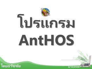 โปรแกรม  AntHOS