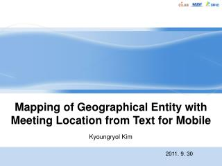 Mapping of  Geographical Entity with  Meeting Location from Text for Mobile