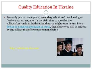 Quality Education In Ukraine