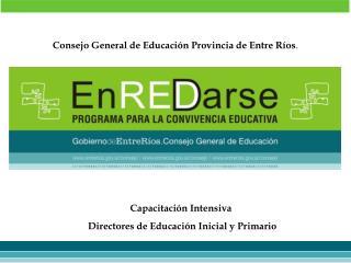 Consejo General de Educaci n Provincia de Entre R os.