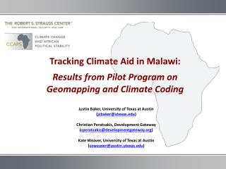 Tracking Climate Aid in Malawi: Results from Pilot Program on  Geomapping  and Climate Coding