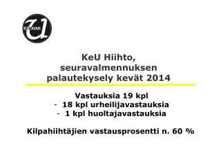 KeU  Hiihto, seurav almennuksen  palautekysely kevät 2014