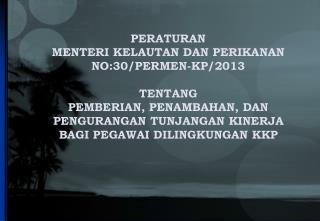 PERATURAN  MENTERI KELAUTAN DAN PERIKANAN  NO:30/PERMEN-KP/2013 TENTANG