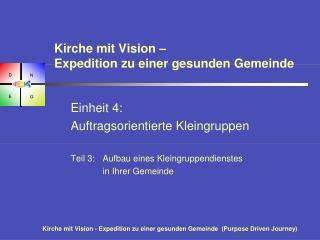 Kirche mit Vision –  Expedition zu einer gesunden Gemeinde