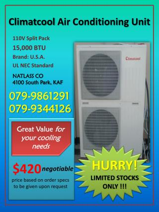 Climatcool  Air  Conditioning Unit