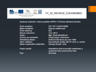 V Y_32_INOVACE_ ČJK43660BED