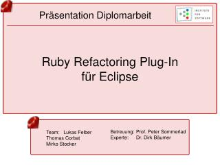 Ruby Refactoring Plug-In f r Eclipse