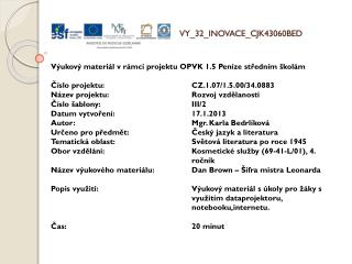 V Y_32_INOVACE_ C JK43060BED