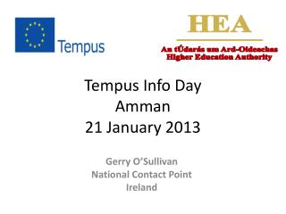 Tempus Info Day Amman 21 January 2013