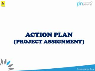 ACTION PLAN ( PROJECT ASSIGNMENT)