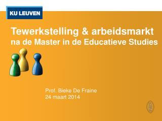 Tewerkstelling & arbeidsmarkt  na de Master in de Educatieve Studies