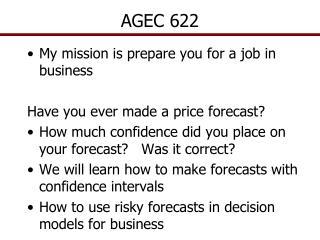 AGEC 622