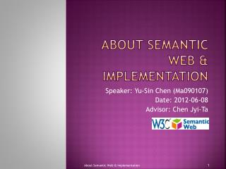 About Semantic Web & Implementation