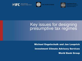 Key issues for designing presumptive tax regimes